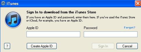 Enter the Apple ID and password for the account you purchased the content with that you want to redownload.