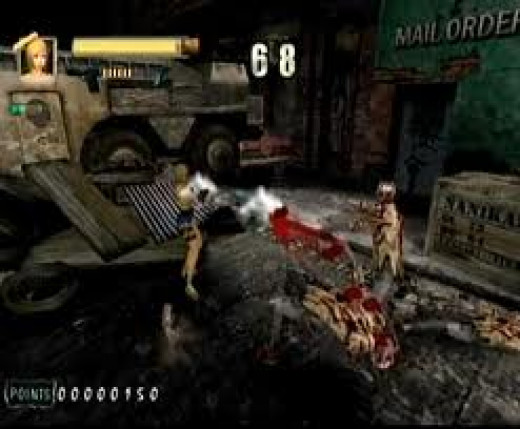Zombies Revenge was made for the Sega Dreamcast. It features blood and gore.
