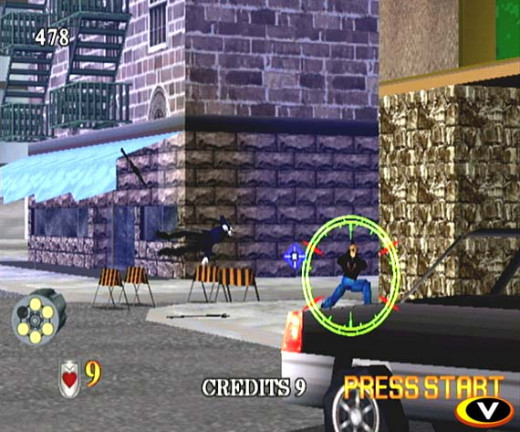 Virtua Cop had unique graphics for a crime action game. It was played from a first person point of view and the gameplay was smooth and easy.