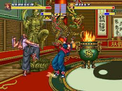 Double Dragon is a fighting game for the Neo Geo that featured two brothers trying to save the woman they love.