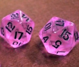 The probability of rolling a sum of 17 on a pair of D20 dice is 16/400 = 0.04.