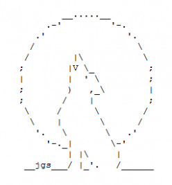 Wolf and Werewolf ASCII Text Art