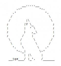 Wolf and Werewolf ASCII Text Art