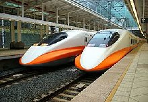 Travel time from Taipei in the North to Kaohsiung in the Southwest is now only 90 minutes by the high speed electrified train.