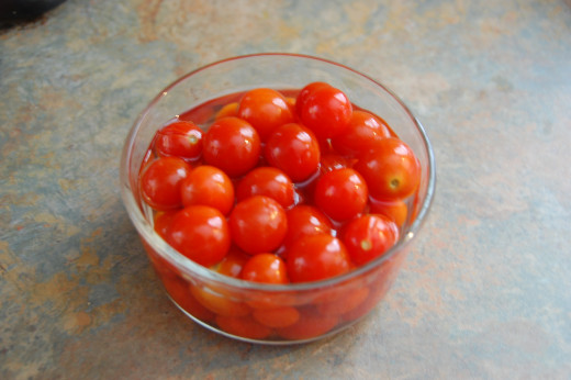 cherry tomatoes soaked in vodka