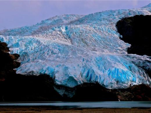 El Aguila glacier in the Patagonia, a long way from Scotland!