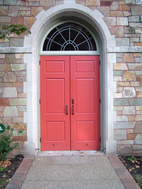 Red is the luckiest door color.
