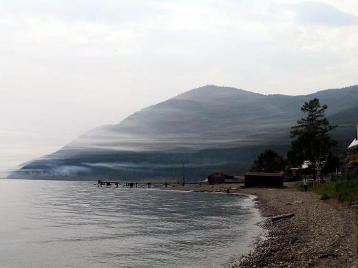 Lake Baikal (South) in Summer as its view at at Bolshoi Koty