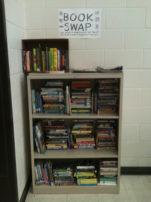 A book swap is a good way for used books to find new owners.