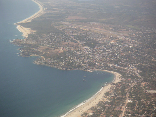 Aerial view of Puerto Escondido.