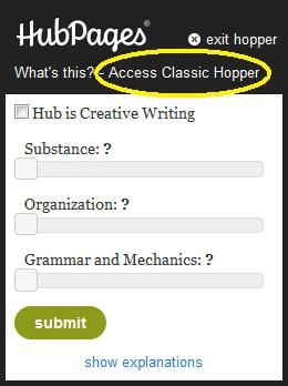 Appreciate the fact Hub Pages allows us to choose new version or classic version.