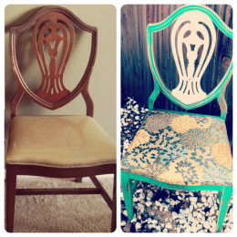 DIY shabby chic refinished chair