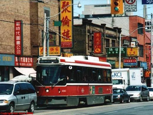 The Toronto Transit electric streetcar