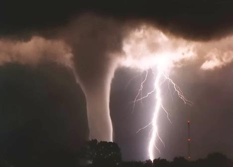 Tornado - A cloudy water spout