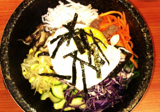 Korean dish: Beef Bibimbap