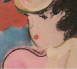 Sharon, the fanatical dressmaker went bonkers over the artist's sensational portraits.