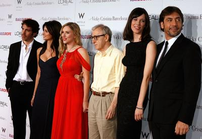 "Woody and the cast of ""Vicky Cristina Barcelona"""