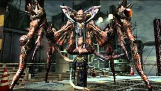Screen shot of Saddler at the end of Resident Evil 4