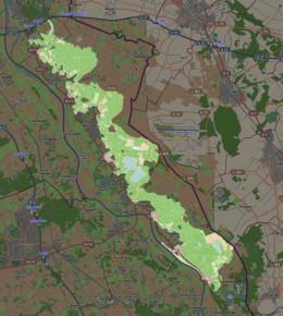 Map location of De Maasduinen National Park, The Netherlands