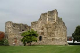 Norman Canterbury Castle remains