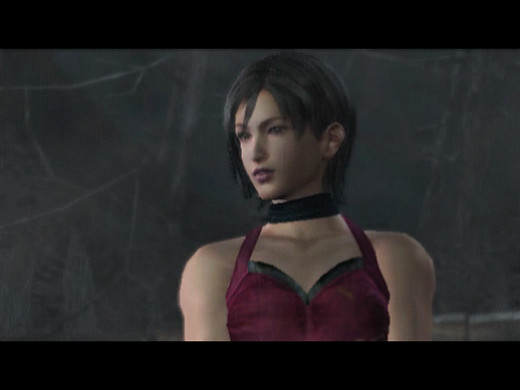 Screen shot of Ada Wong in Resident Evil 4