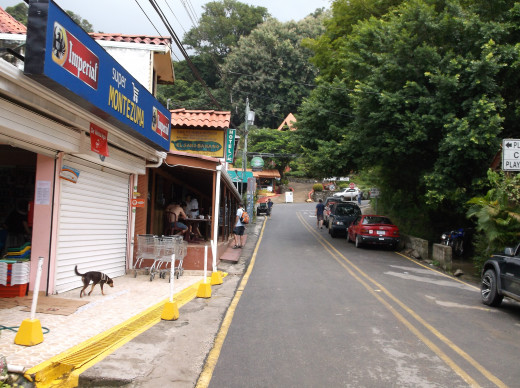 A street in a small Costa Rican town.