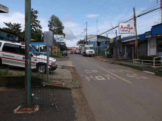 A paved road in one of the town of Costa Rica