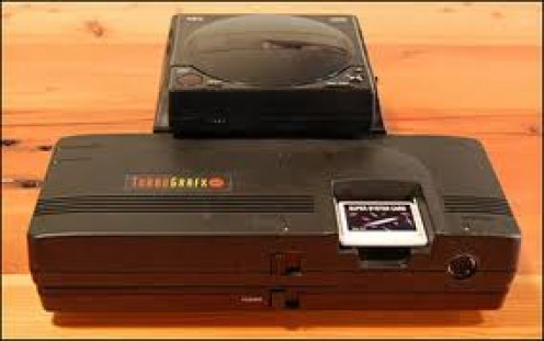 The Turbo Graphix 16 is a 16 bit video game system that was released in the 1990's. It came equipped with two controllers.