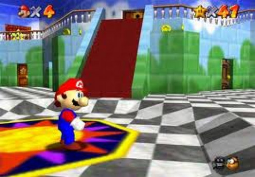 Mario 64 was the first Mario Brothers video game to be released on the N64. They later came out with Super Mario Kart.