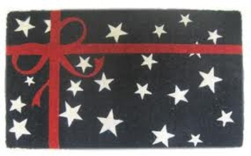 Decorate Your Door Mat in all kinds of ways. You can make different mats for certain holidays such as Christmas or for the Fourth of July. (Pictured)