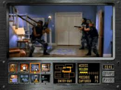 Night Trap  is an m rated video game that was released on the Sega CD and on the 3DO. Your character sets traps for vampires.