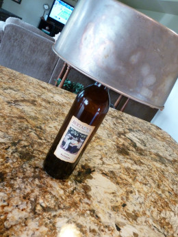 Not a funky wine lamp. A wine bottle works perfectly for cooling your angel food cake.