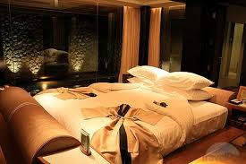 bedroom with bathrobes on arrival