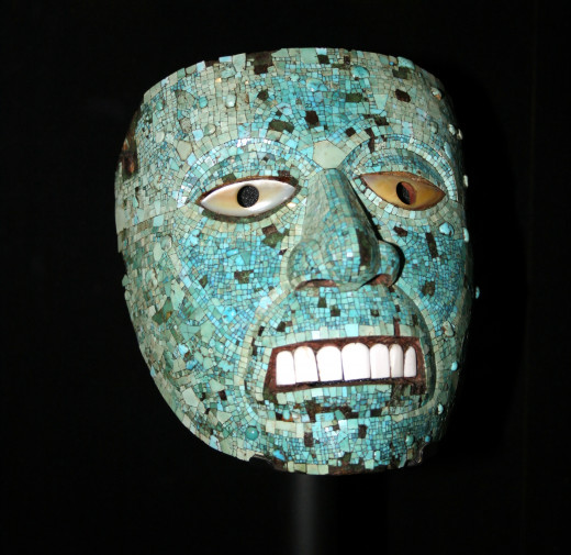 Jade mask of Xiuhtecuhtli at the British Museum.