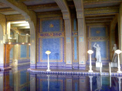 The inside pool