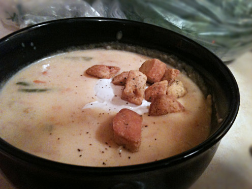 Warm homemade soup is perfect when fall weather starts intruding on the summer heat.