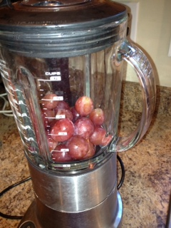 pic of grapes in blender