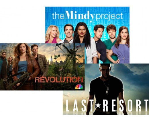 The Mindy Project (FOX), Revolution (NBC) and Last Resort (ABC)