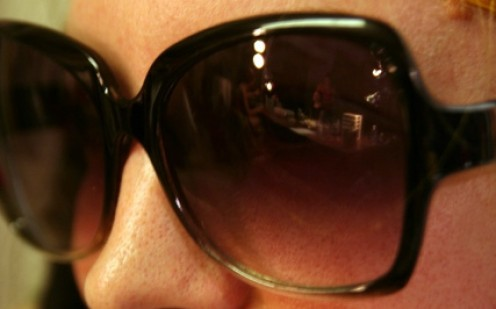 Sunglasses are the ultimate accessory -- the bigger the better!