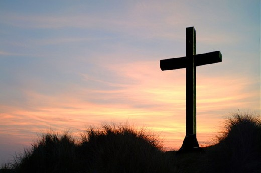 "The symbol of the empty cross: ""For He is not here, He is risen!"""