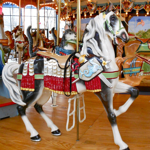 "The ""Proud Horse"" Carousel at the Please Touch Museum in Philadelphia."
