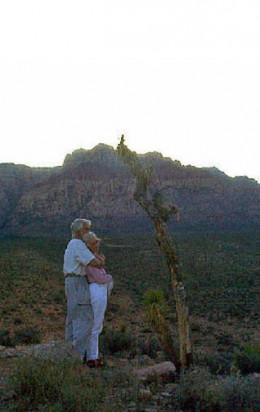 Red Rock at dusk - outside of Las Vegas