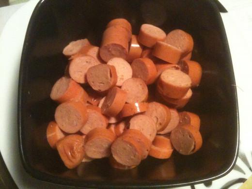 Chopped wiener