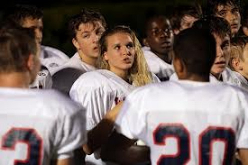Emily Culvahouse, a real placekicker on an all-male football team.