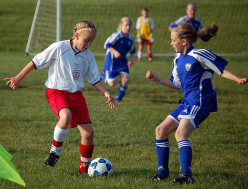 Who says that girls can ONLY play soccer?