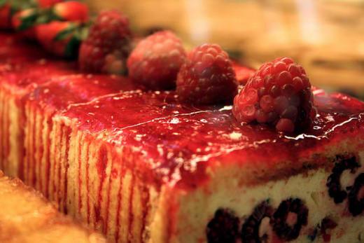 Decadent Raspberry Cake