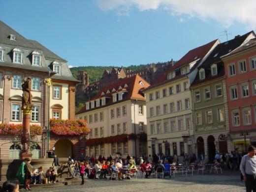 Heidelberg marktplatz, marketplace.