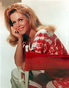 "was not allowed to be herself on the ABC-TV sitcom, ""Bewitched,"" by her idiot husband, ""Darrin."""