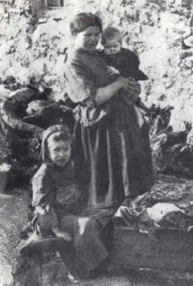 Irish mother with two children.