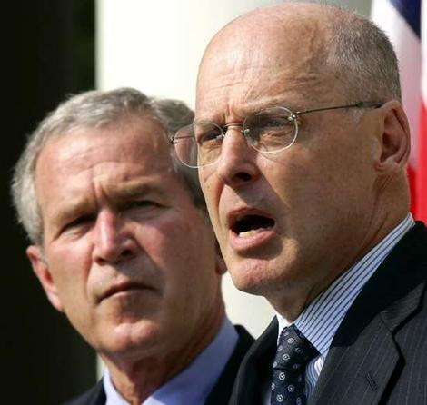 Secretary Paulson and President Bush